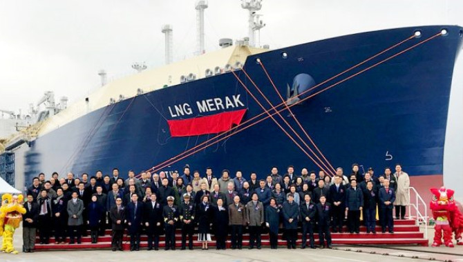 Mitsui holds naming ceremony for second Yamal LNG c