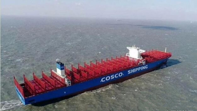 China's largest container ship handed over to order
