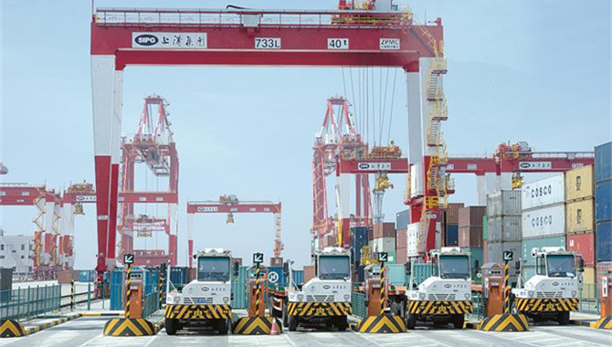 Efficiency improved at Shanghai Int'l Port Group
