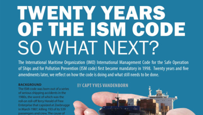 Twenty years of the ISM code, so what next?