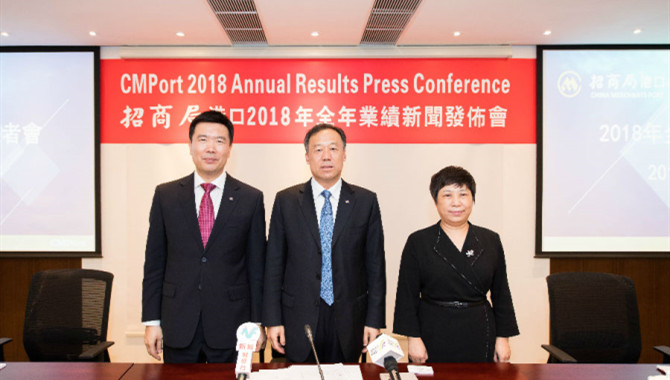 CMPort 2018 net profit rose 20.2% to HK$7,245 milli