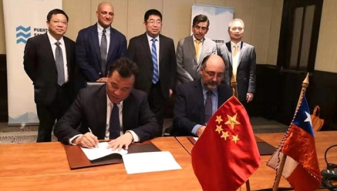 Xiamen port ties up with Chilean counterpart