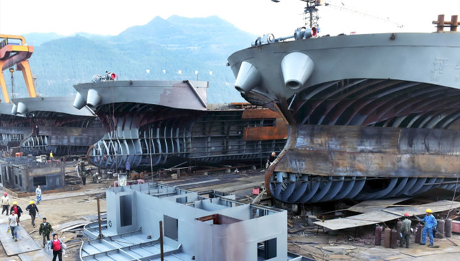 China's shipbuilding capacity utilization retreats