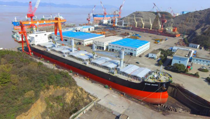 Shipyards in Zhoushan rank among top 10 ship repair