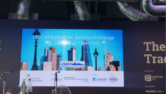 UK-China Maritime Services Exchange —— UK-China