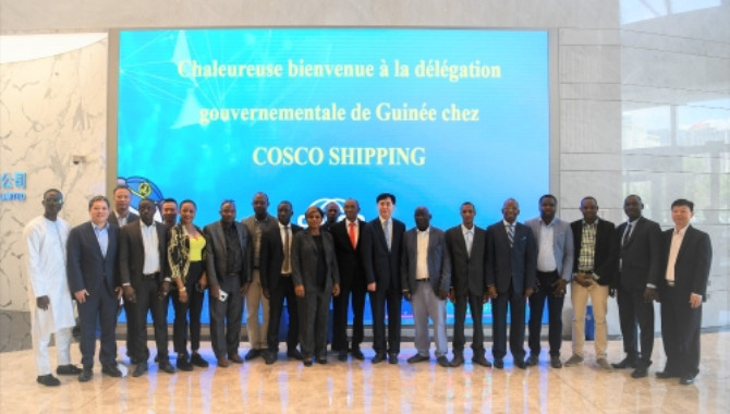 Delegation of Guinean Government Visited COSCO SHIP