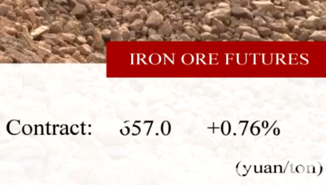 China's iron ore futures close higher Tuesday