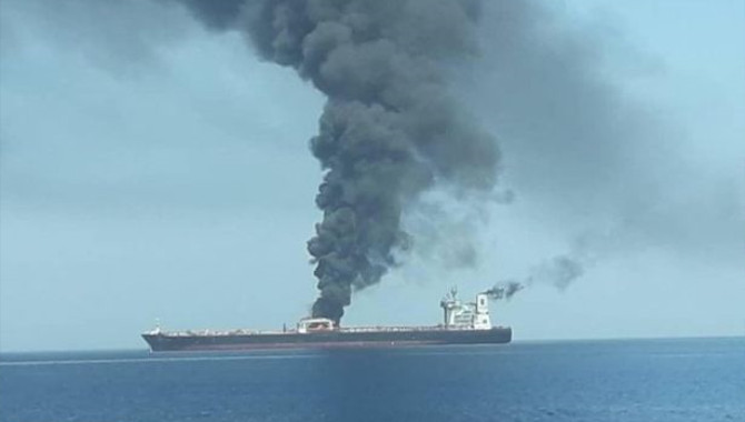 Iranian oil tanker 'hit by two rockets in terror at
