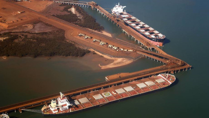 Iron ore arrivals at Chinese ports rebounded on wee