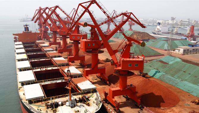 China iron ore port stocks rebounded on greater arr