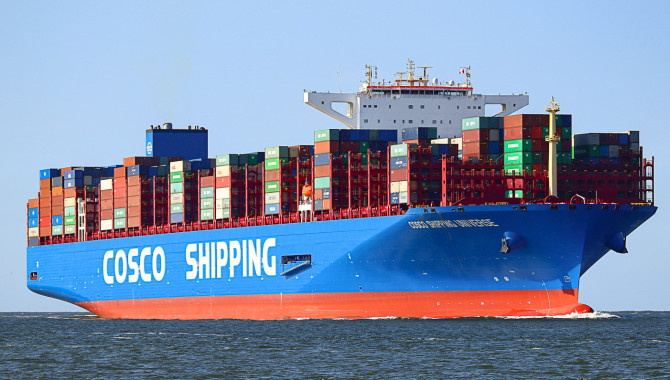 COSCO SHIPPING moves up in the world from fourth to