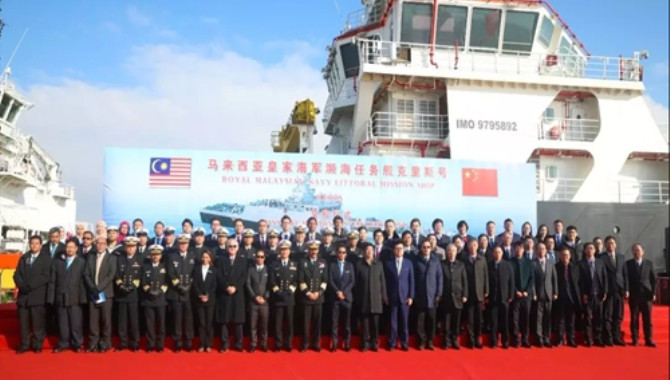 China delivers first littoral mission ship to Malay