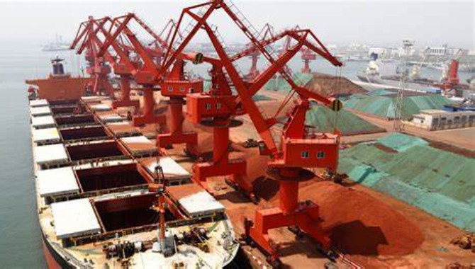 Iron ore arrivals at Chinese ports fell 950,000 mt