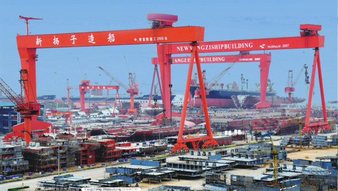 Yangzijiang received $140m new orders in Aug.