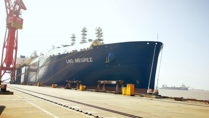 Final Yamal LNG carrier for MOL and Cosco set for d