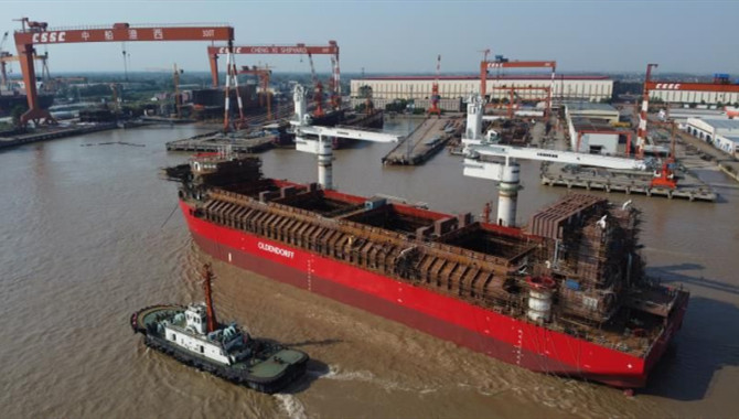 Chengxi Lauched the World-first 21,500DWT SUL Vesse